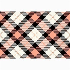 Smart Plaid Peach Collage 12  X 18