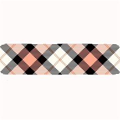 Smart Plaid Peach Large Bar Mats