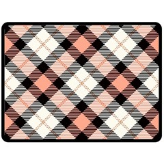Smart Plaid Peach Fleece Blanket (Large)