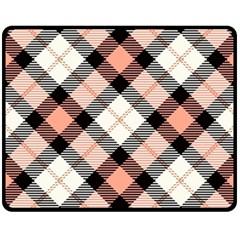 Smart Plaid Peach Fleece Blanket (medium)
