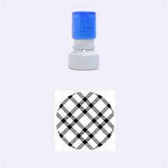 Smart Plaid Peach Rubber Round Stamps (Small)