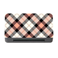 Smart Plaid Peach Memory Card Reader with CF