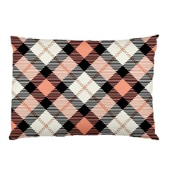 Smart Plaid Peach Pillow Cases (two Sides)