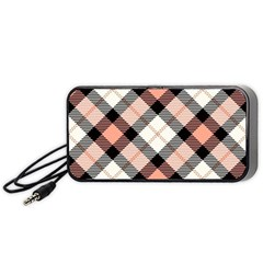 Smart Plaid Peach Portable Speaker (Black)