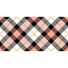 Smart Plaid Peach You Are Invited 3d Greeting Card (8x4)