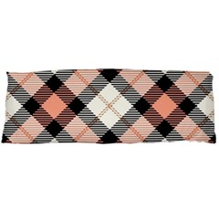 Smart Plaid Peach Body Pillow Cases (dakimakura)