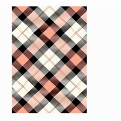 Smart Plaid Peach Large Garden Flag (two Sides)