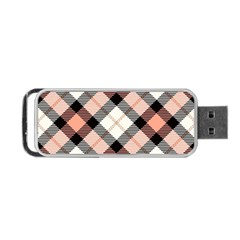 Smart Plaid Peach Portable USB Flash (One Side)