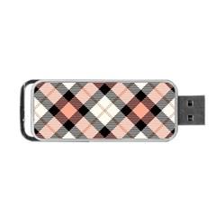 Smart Plaid Peach Portable USB Flash (Two Sides)