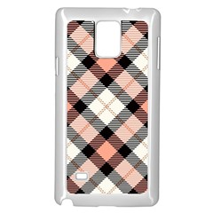 Smart Plaid Peach Samsung Galaxy Note 4 Case (white)