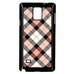 Smart Plaid Peach Samsung Galaxy Note 4 Case (black)