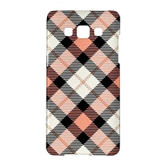 Smart Plaid Peach Samsung Galaxy A5 Hardshell Case
