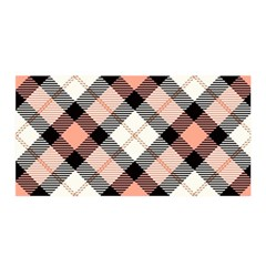 Smart Plaid Peach Satin Wrap