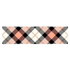 Smart Plaid Peach Satin Scarf (Oblong)