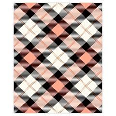 Smart Plaid Peach Drawstring Bag (Small)