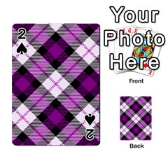 Smart Plaid Purple Playing Cards 54 Designs