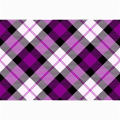 Smart Plaid Purple Collage 12  x 18