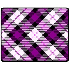 Smart Plaid Purple Fleece Blanket (Medium)