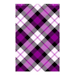 Smart Plaid Purple Shower Curtain 48  x 72  (Small)