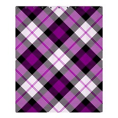 Smart Plaid Purple Shower Curtain 60  x 72  (Medium)