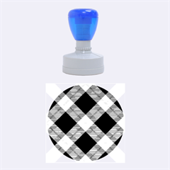 Smart Plaid Purple Rubber Round Stamps (medium)