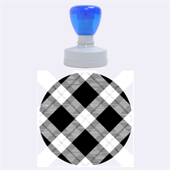 Smart Plaid Purple Rubber Round Stamps (large)