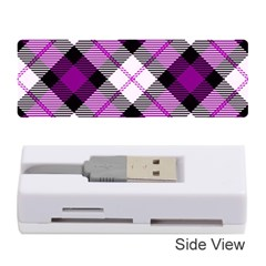 Smart Plaid Purple Memory Card Reader (Stick)