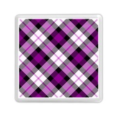 Smart Plaid Purple Memory Card Reader (Square)