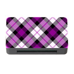 Smart Plaid Purple Memory Card Reader with CF