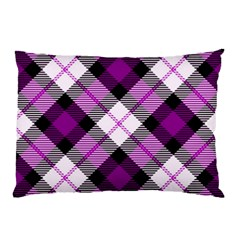 Smart Plaid Purple Pillow Cases (two Sides)