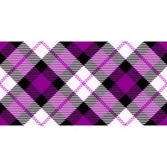 Smart Plaid Purple You Are Invited 3d Greeting Card (8x4)