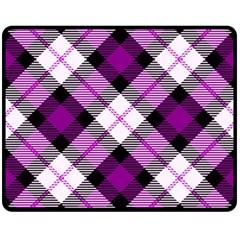 Smart Plaid Purple Double Sided Fleece Blanket (Medium)