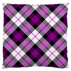 Smart Plaid Purple Large Flano Cushion Cases (Two Sides)