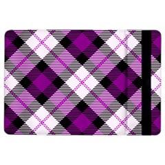 Smart Plaid Purple Ipad Air 2 Flip