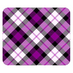 Smart Plaid Purple Double Sided Flano Blanket (small)