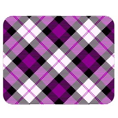 Smart Plaid Purple Double Sided Flano Blanket (medium)