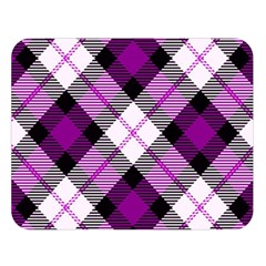 Smart Plaid Purple Double Sided Flano Blanket (Large)