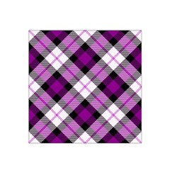 Smart Plaid Purple Satin Bandana Scarf