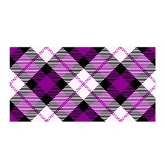 Smart Plaid Purple Satin Wrap