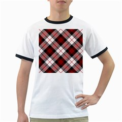 Smart Plaid Red Ringer T-Shirts
