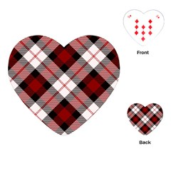 Smart Plaid Red Playing Cards (Heart)