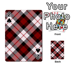 Smart Plaid Red Playing Cards 54 Designs