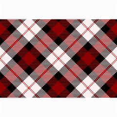 Smart Plaid Red Collage 12  x 18