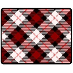 Smart Plaid Red Fleece Blanket (Medium)