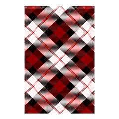 Smart Plaid Red Shower Curtain 48  x 72  (Small)