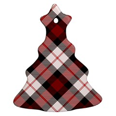Smart Plaid Red Ornament (Christmas Tree)