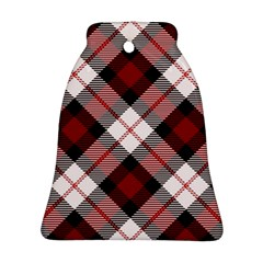 Smart Plaid Red Bell Ornament (2 Sides)