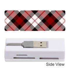 Smart Plaid Red Memory Card Reader (Stick)