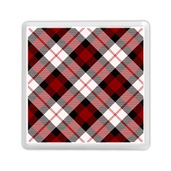 Smart Plaid Red Memory Card Reader (Square)