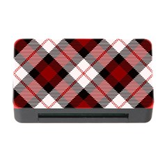 Smart Plaid Red Memory Card Reader With Cf